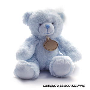Small Blue Teddy Bear Toy isolated on white